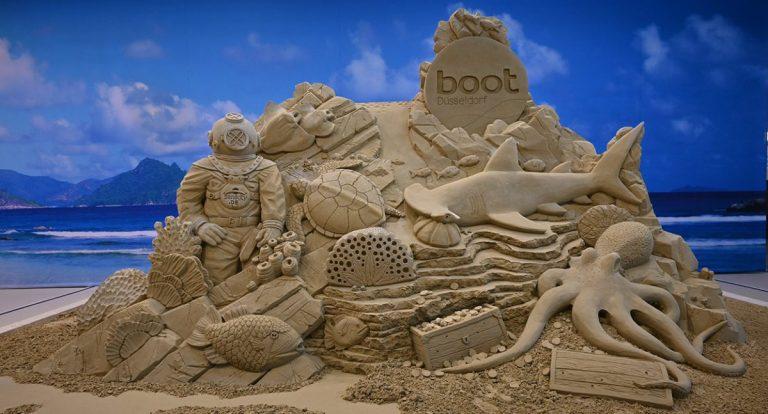 Das fertige Sandkunstwerk